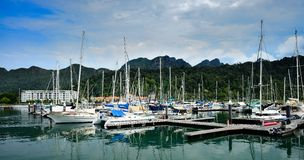 Sail boats and yachts Stock Images