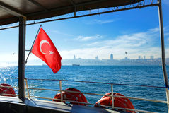 Sail through Bosphorus Stock Image