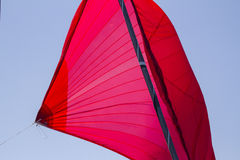 Sail. Detail of a sailboat during a racing Royalty Free Stock Image