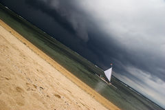 Sail in the diagonal of bad weather Stock Photography