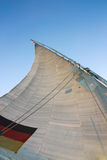 Sail of an Egyptian Felukka boat Royalty Free Stock Photo