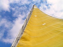 Sail filled with wind Royalty Free Stock Image