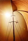 Sail fluttering in the wind Royalty Free Stock Images