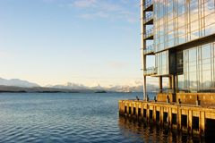 Sail Hotel. In Molde Norway stock photos