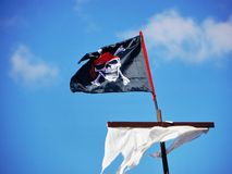 Sail jolly roger Royalty Free Stock Image