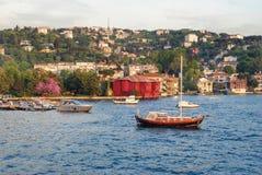 Sail over the Bosporus stock photo