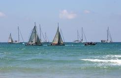 Sail parade. In Israel Royalty Free Stock Image