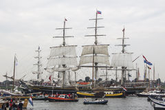 Sail In Parade Amsterdam 2015. Clipper Stad Amsterdam Stock Images
