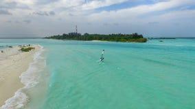 Sail in Paradise. Sun, sea, sand! Maldives, where summer never ends, a tropical paradise Stock Image