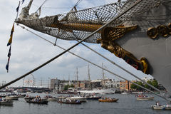 Sail 2015 in the port of Amsterdam Stock Photos