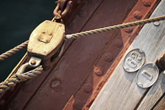 Sail pulley Stock Images
