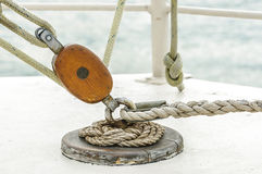 Sail pulley Royalty Free Stock Photography