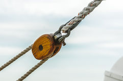Sail pulley Stock Photography