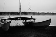 Sail. Ready to set sail on a majestic fog Stock Photo
