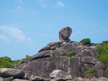 Sail rock. The big rock stands  lonely on an island in Andaman sea Stock Photos