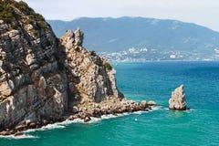 Sail rock at the cape Limen Burun. Gaspra, Big Yalta Stock Images