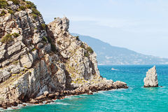 Sail rock at the cape Limen Burun. Gaspra, Big Yalta district Royalty Free Stock Photography