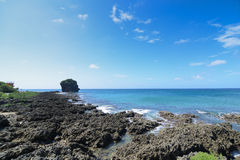 Sail rock in the kenting national park taiwan Stock Image