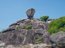 Sail rock. The sail - like rock caused  by wind erosion Royalty Free Stock Photo