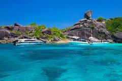 Sail rock, Similan Island, Thailand Stock Photos