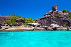 Sail rock, Similan Island, Thailand Stock Photo