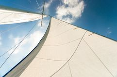Sail of a sailing boat Royalty Free Stock Photography