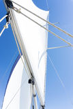 Sail of a sailing boat. sailing yacht on the water Royalty Free Stock Images