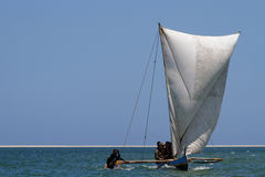 A sail on the sea Royalty Free Stock Images