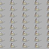 Sail seamless pattern background with hand drawn style. Holiday t-shirt royalty free illustration