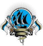 Sail shield Royalty Free Stock Photography