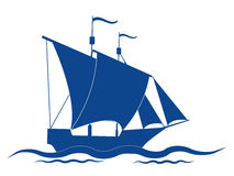 Sail ship. The sail ship vector icon vector illustration