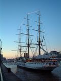 Sail ship. At puerto madero stock images