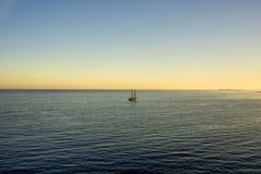 Sail ship anchored off of Paradise Island in Nassau, Bahamas Royalty Free Stock Image