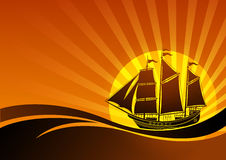 Sail ship background Royalty Free Stock Photography