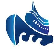 Sail ship cruise. Boat  logo vector eps10 Stock Photography