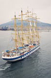 Sail Ship in Harbor of Napoli Royalty Free Stock Photos