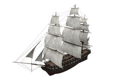 Sail Ship Isolated Stock Photos