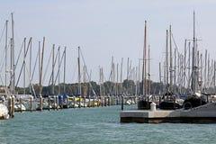 Sail ship marina Stock Photo