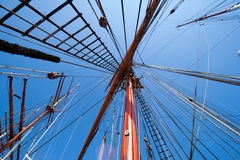 Sail ship mast Stock Image