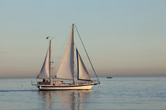 Sail ship in the Mediterranean Sea Stock Photography