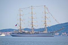 The sail ship Nadezhda of Russian Federation Stock Image