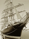 Sail ship in port. Royalty Free Stock Photo