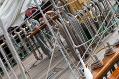 Sail ship rigging Stock Image