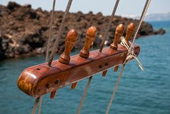 Sail ship rigging Royalty Free Stock Image
