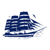 Sail ship. Vector Illustration. eps 8.0 stock illustration