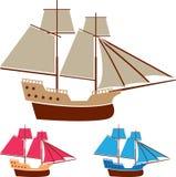 Sail ship vector vintage Stock Photos