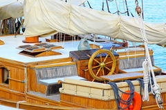 Sail ship wheelhouse Royalty Free Stock Photo