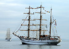 Sail Ships in New York Harbor during NYC Fleet Week Royalty Free Stock Image