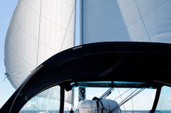 Sail and spray hood Stock Image