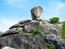 Sail on a stone cliff, Similans, Thailand Royalty Free Stock Images
